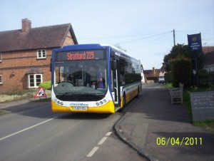 Service 229 departure from Aston Cantlow to Stratford