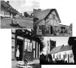 Collage of old photos of the parish