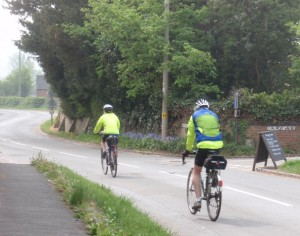 Cyclists in Aston Cantloe